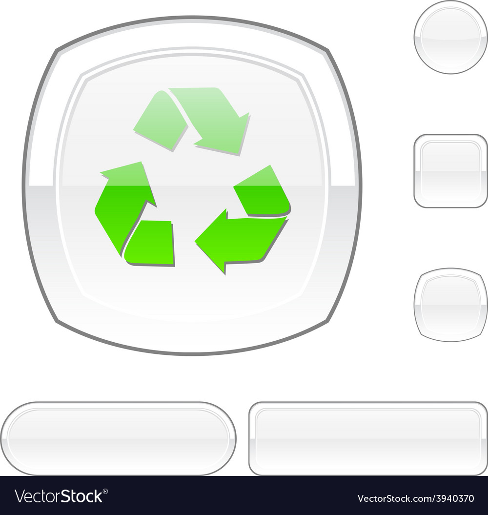 Recycle white button vector | Price: 1 Credit (USD $1)
