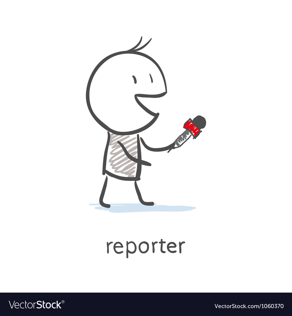 Reporter interview vector | Price: 1 Credit (USD $1)