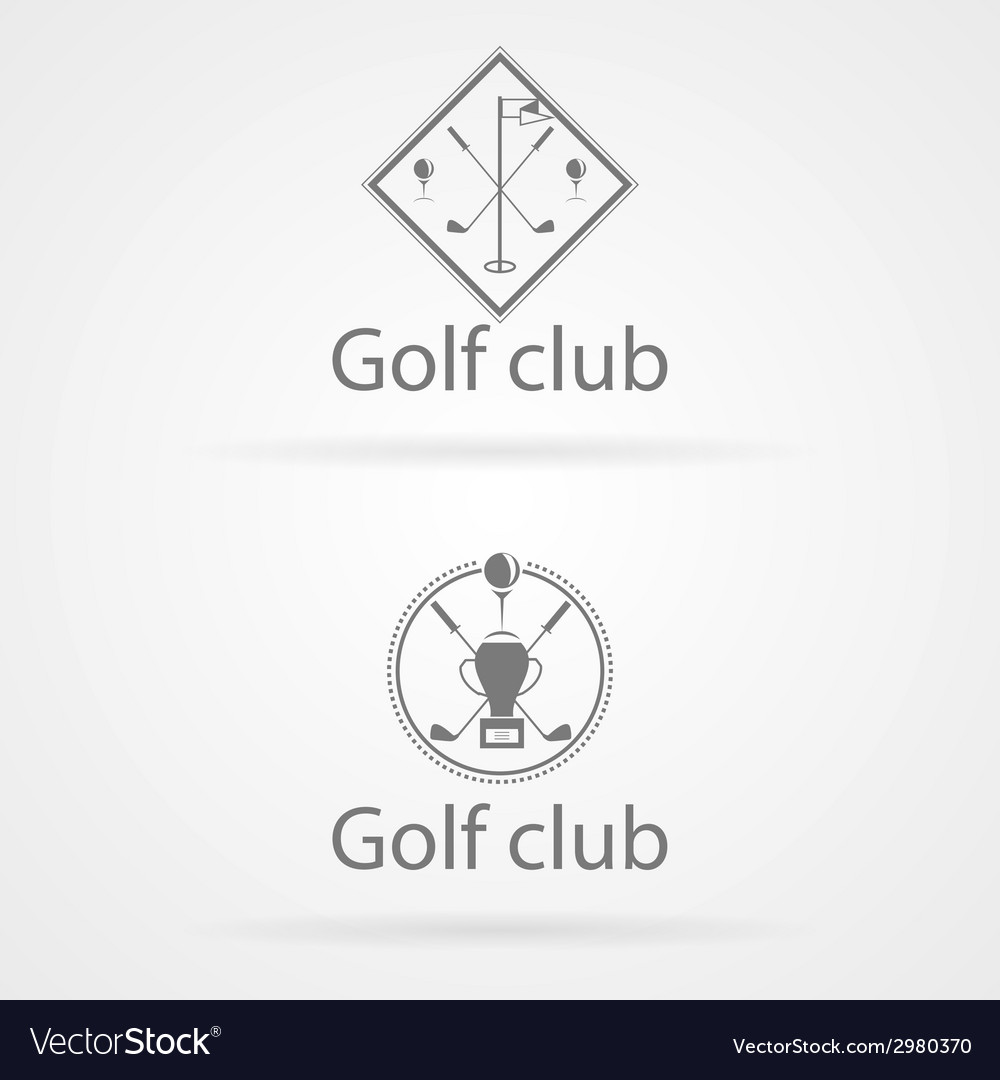 Two badge for golf club vector | Price: 1 Credit (USD $1)
