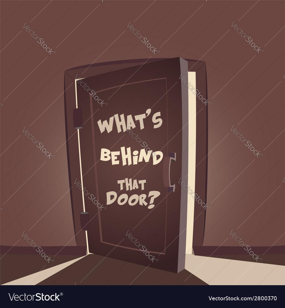 Whats behind that door vector | Price: 1 Credit (USD $1)