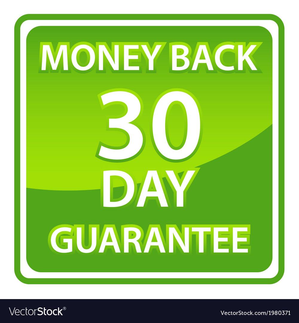 30 days money back guarantee vector | Price: 1 Credit (USD $1)