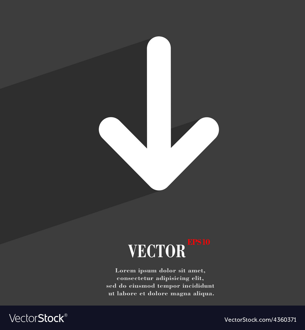 Arrow down download load backup icon symbol flat vector   Price: 1 Credit (USD $1)