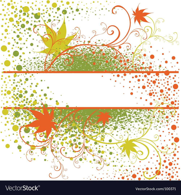 Floral grunge vintage frame vector | Price: 1 Credit (USD $1)