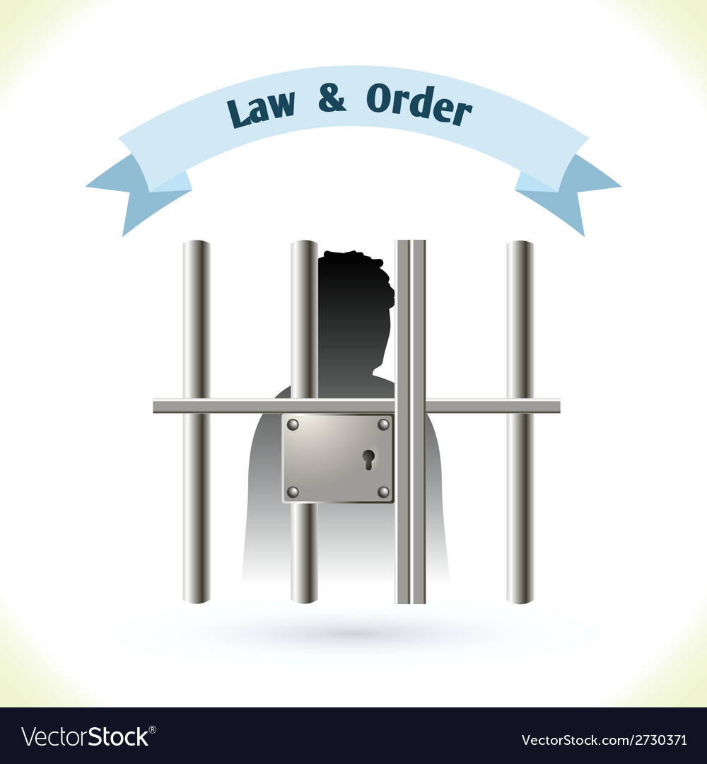 Law icon prisoner in jail vector | Price: 1 Credit (USD $1)