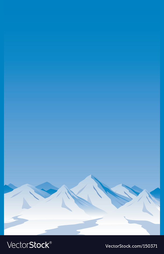 Mountain scene vector | Price: 1 Credit (USD $1)