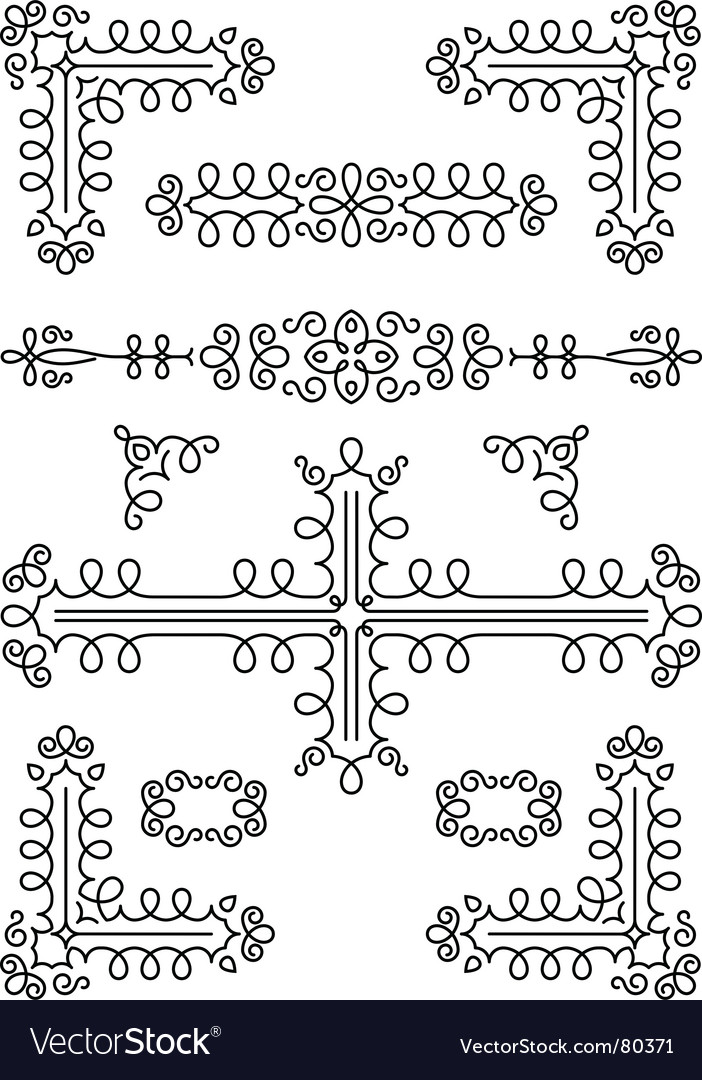 Page decorations vector | Price: 1 Credit (USD $1)