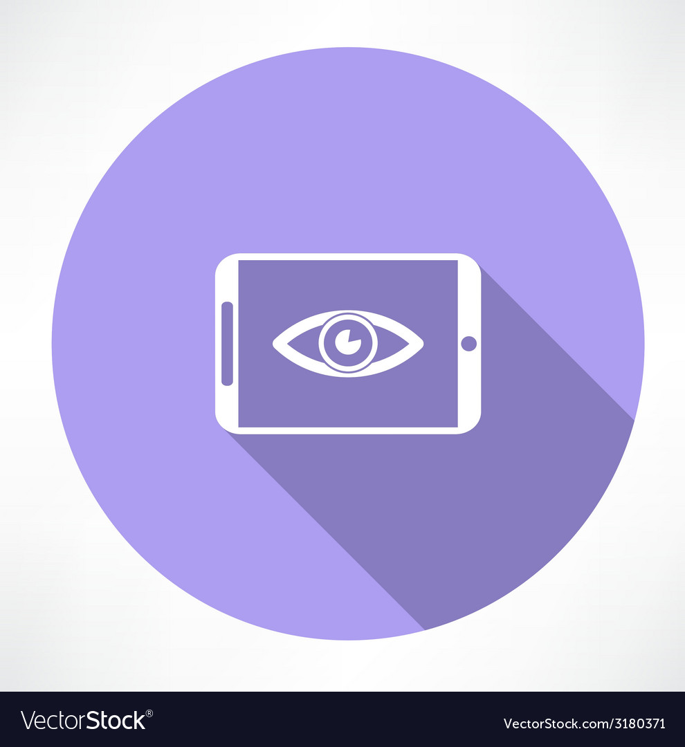 Smartphone with eye icon vector | Price: 1 Credit (USD $1)