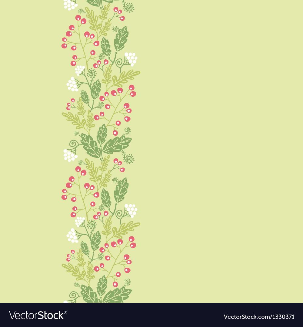 Summer berries vertical seamless pattern vector   Price: 1 Credit (USD $1)