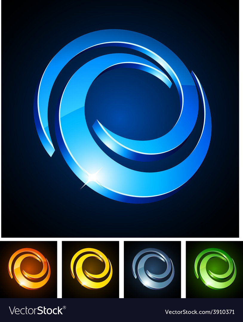 Swirl vibrant emblems vector | Price: 1 Credit (USD $1)