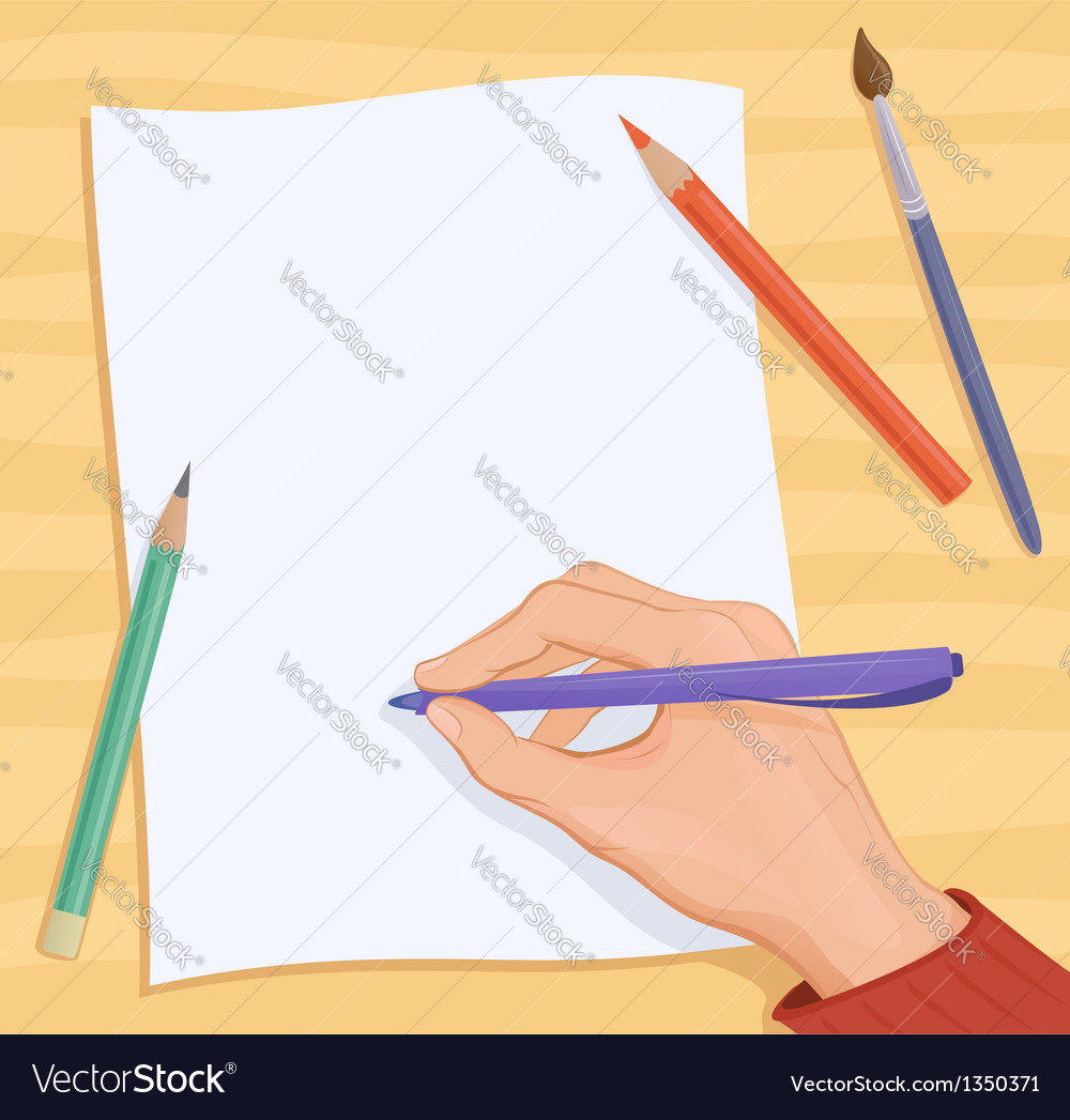 Writing hand vector | Price: 3 Credit (USD $3)