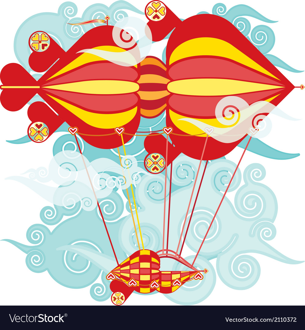 Airship balloon vector | Price: 1 Credit (USD $1)