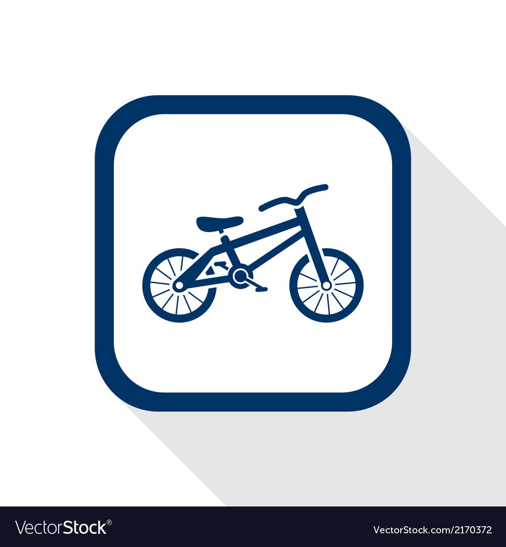 Bike flat icon vector | Price: 1 Credit (USD $1)
