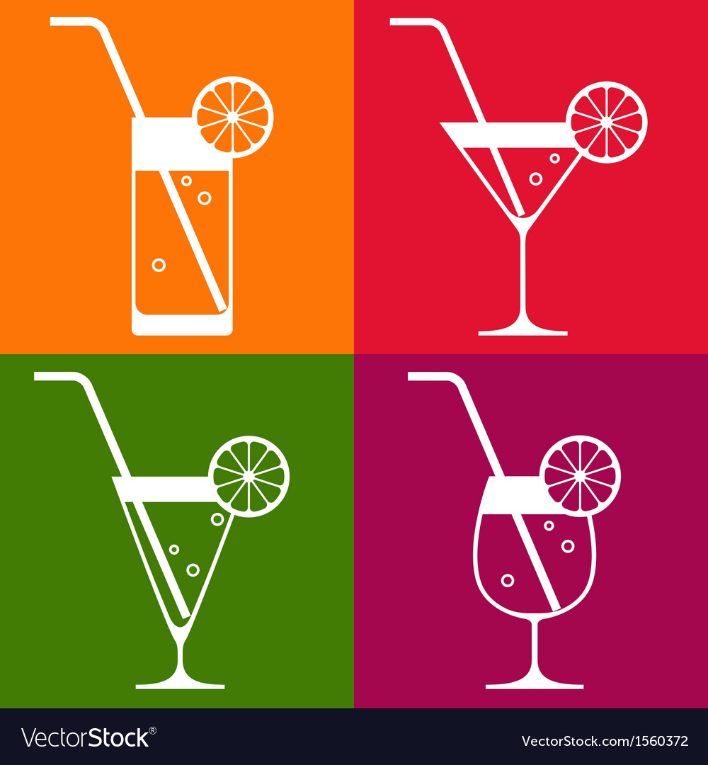 Cocktail glasses vector | Price: 1 Credit (USD $1)