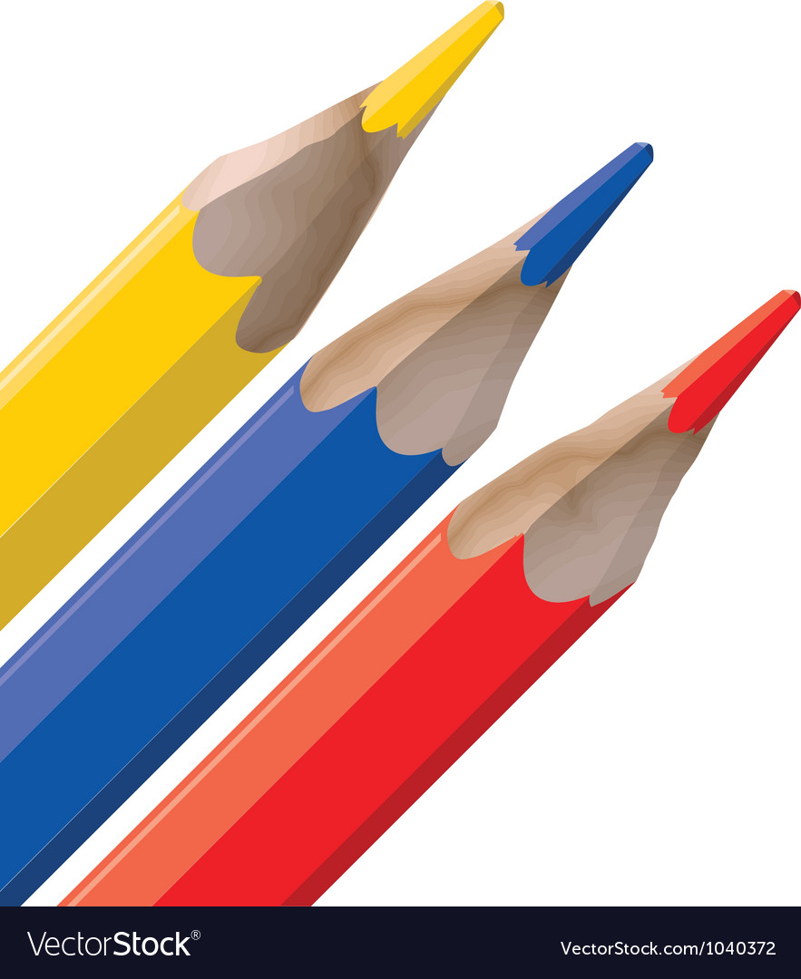 Color pencil tops vector | Price: 1 Credit (USD $1)