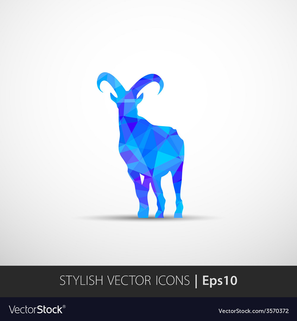 Colorful with silhouette of goat vector | Price: 1 Credit (USD $1)