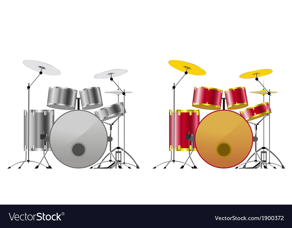 Drum sets vector | Price: 1 Credit (USD $1)