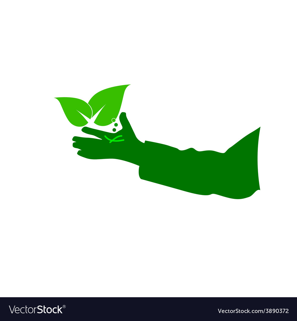 Eco hand green vector | Price: 1 Credit (USD $1)