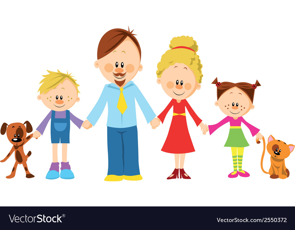 Family holding hands vector | Price: 1 Credit (USD $1)