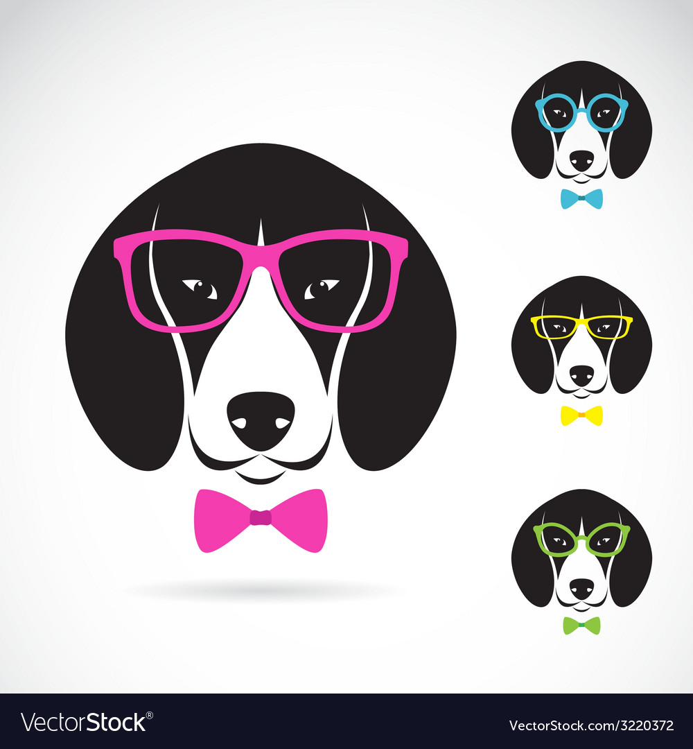 Images of dog beagle wearing glasses vector | Price: 1 Credit (USD $1)