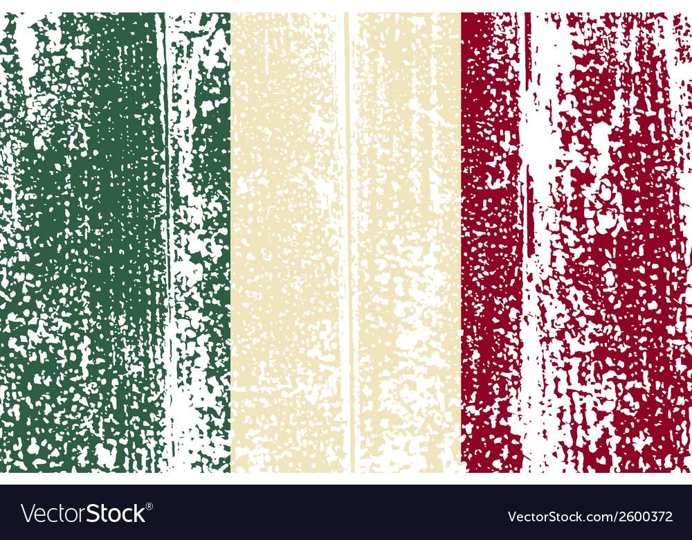 Italian grunge flag vector | Price: 1 Credit (USD $1)