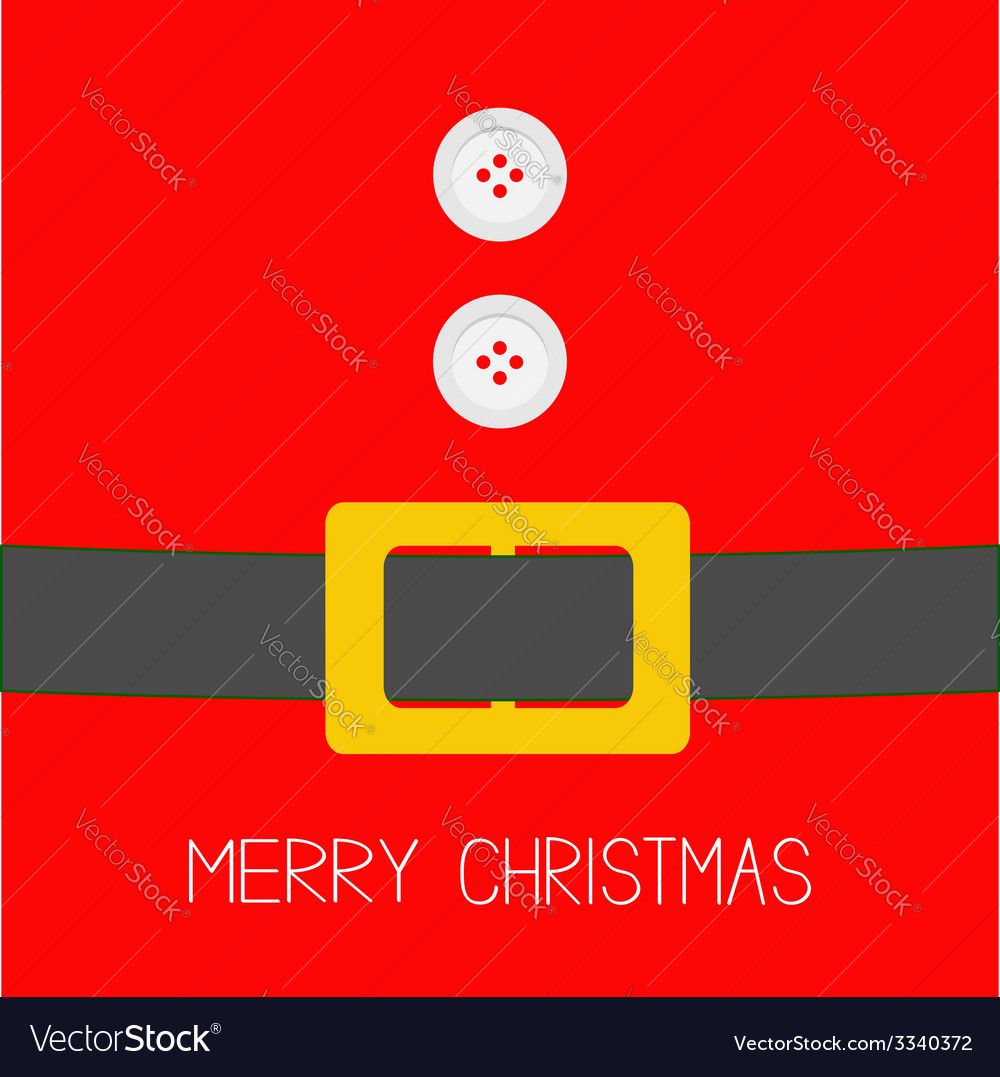 Santa claus coat with buttons and belt christmas vector | Price: 1 Credit (USD $1)
