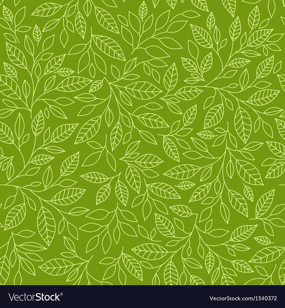 Seamless pattern of stylized leaves vector | Price: 1 Credit (USD $1)