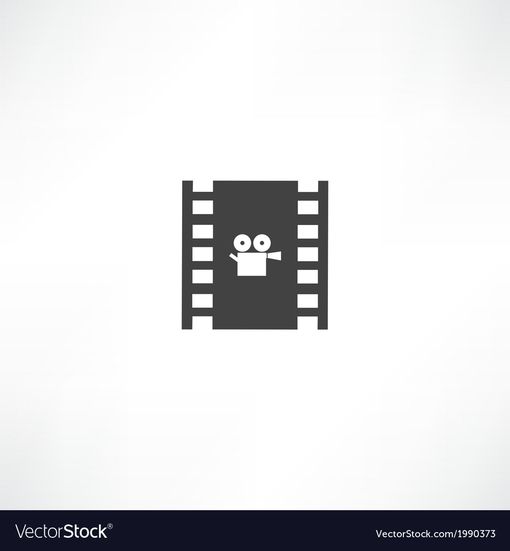 Film frame icon vector | Price: 1 Credit (USD $1)