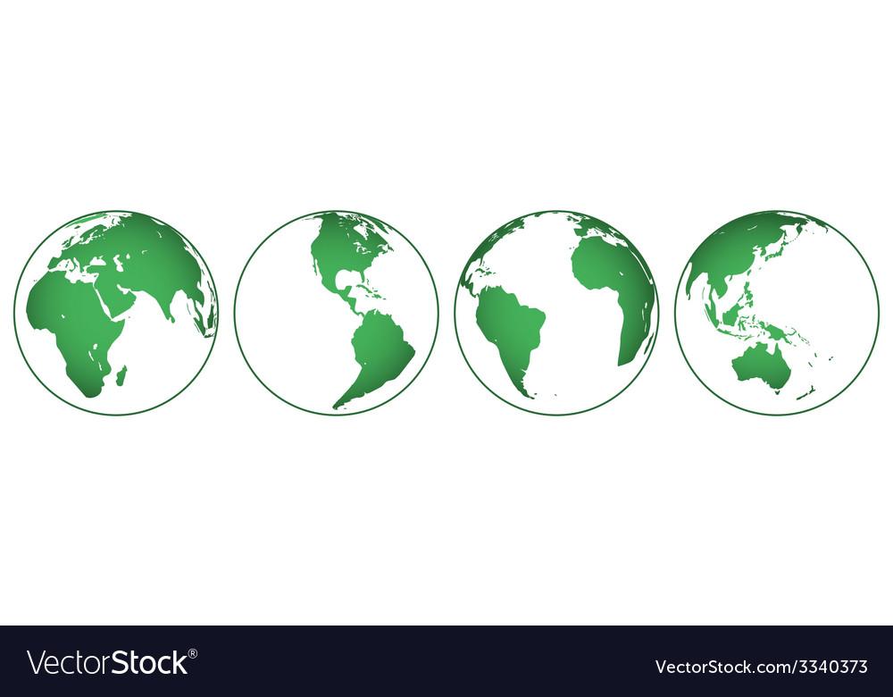 Globes set vector   Price: 1 Credit (USD $1)