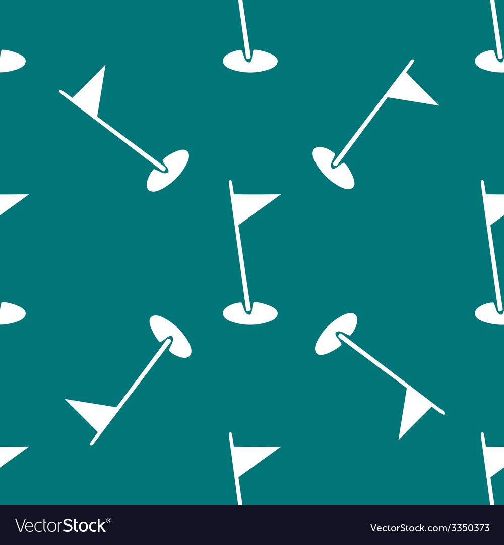 Golf flag web icon flat design seamless pattern vector | Price: 1 Credit (USD $1)