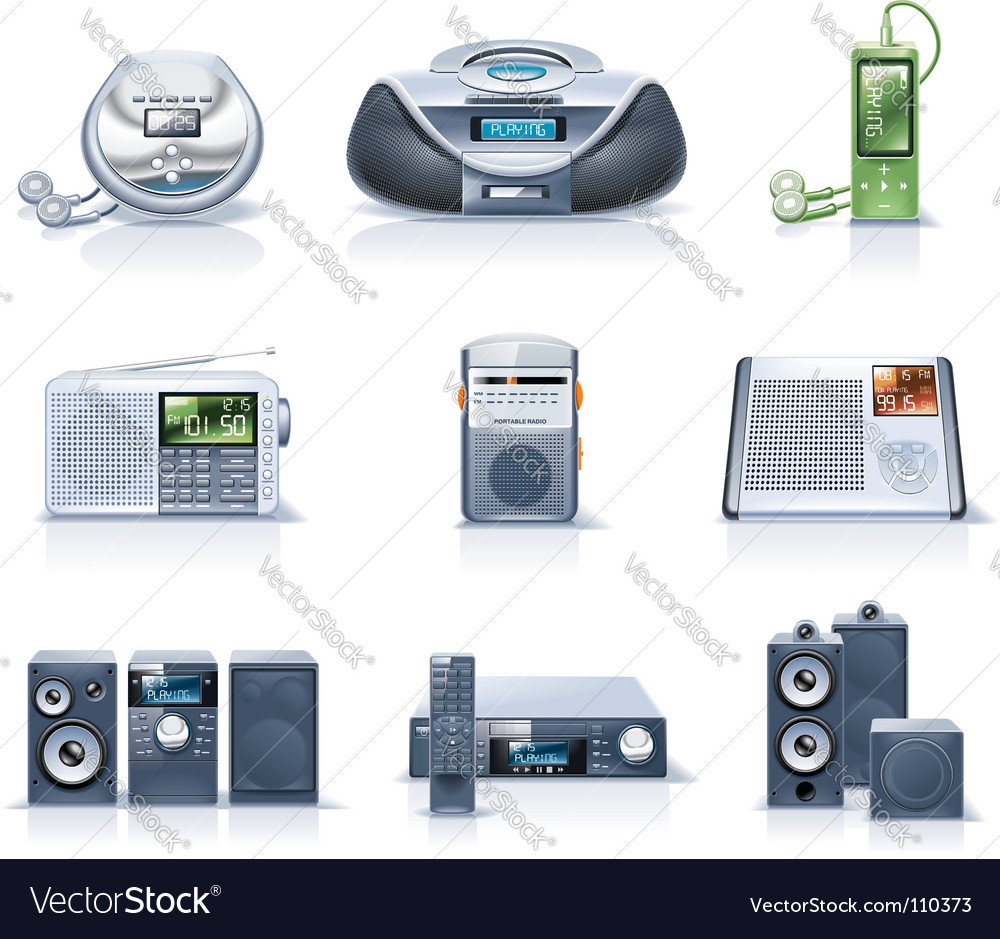 Household appliance icons vector | Price: 5 Credit (USD $5)