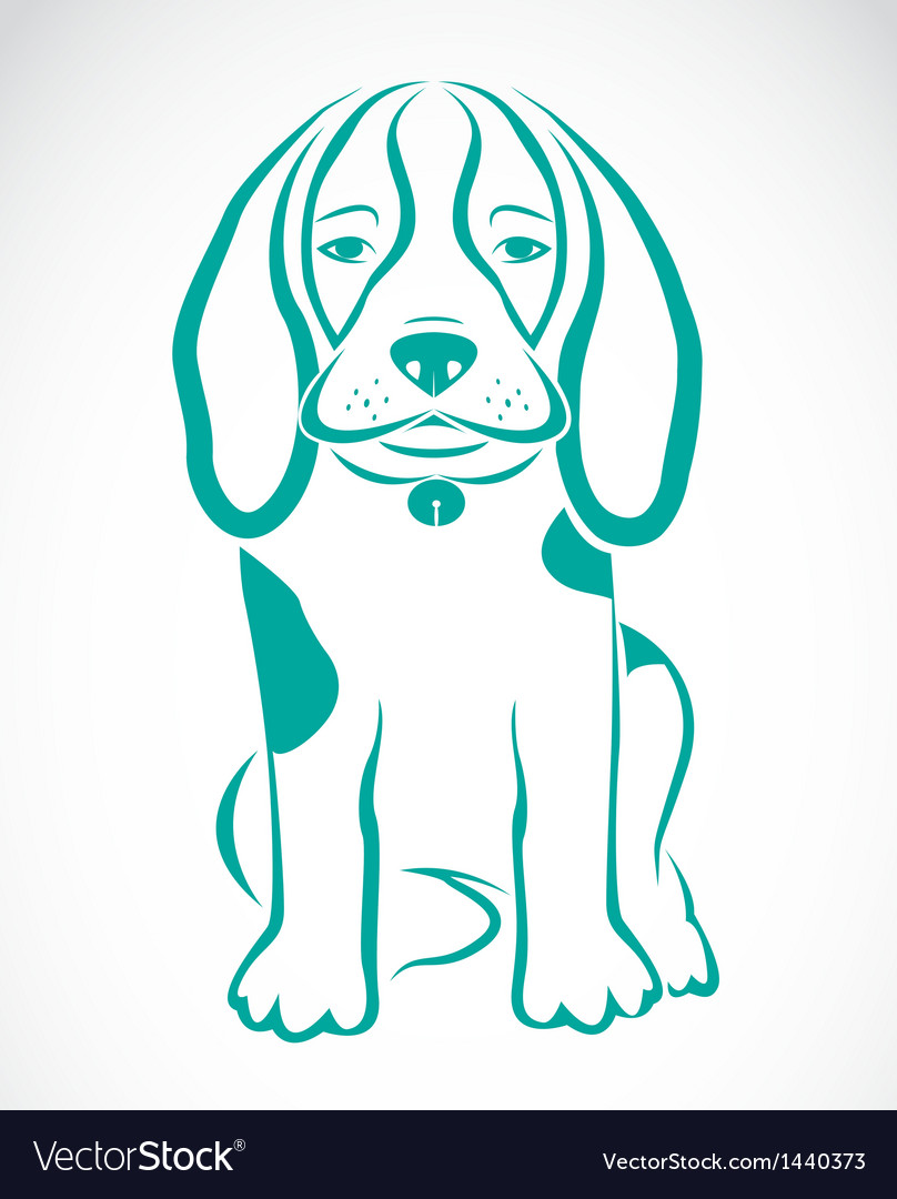 Image of an dog beagle vector | Price: 1 Credit (USD $1)