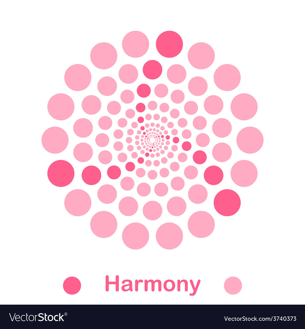 Imple harmony spiral logo conception vector | Price: 1 Credit (USD $1)