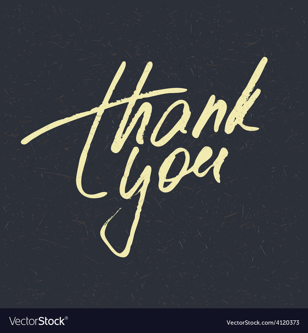 Lettering thank you vector | Price: 3 Credit (USD $3)