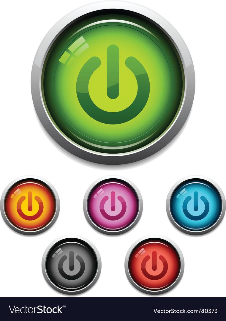 Power button icon vector | Price: 1 Credit (USD $1)