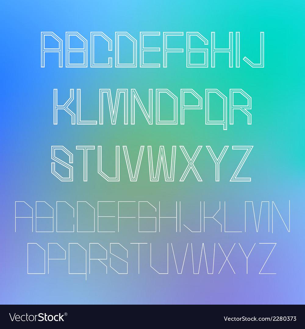 Thin alphabet design eps10 vector | Price: 1 Credit (USD $1)
