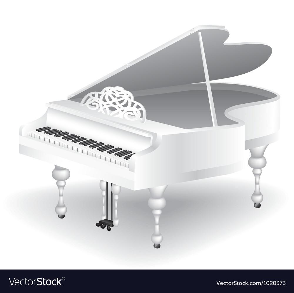 White grand piano vector   Price: 1 Credit (USD $1)