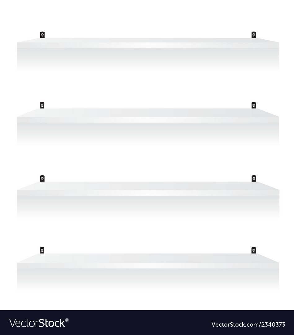 White shelves vector | Price: 1 Credit (USD $1)