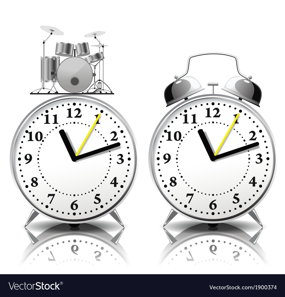 Alarm clock set in a retro style vector | Price: 1 Credit (USD $1)