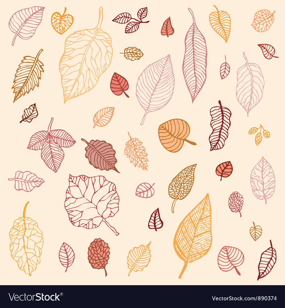 Autumn leaves set vector | Price: 1 Credit (USD $1)