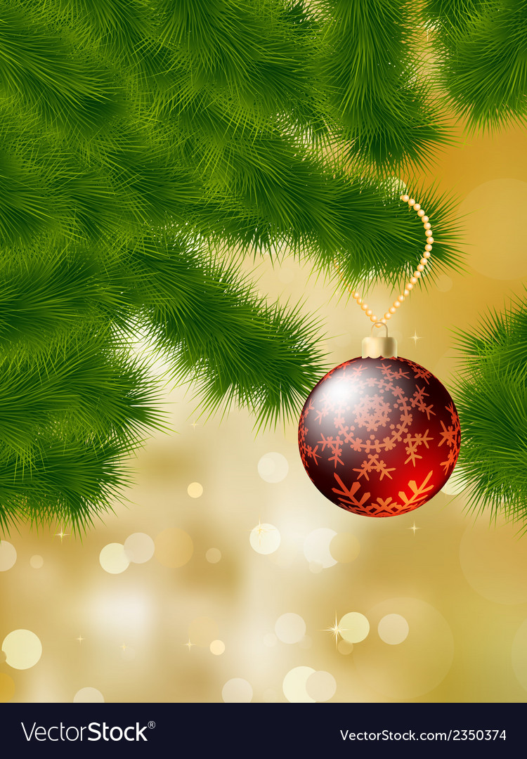 Baubles hanging on a christmas tree eps 8 vector | Price: 1 Credit (USD $1)