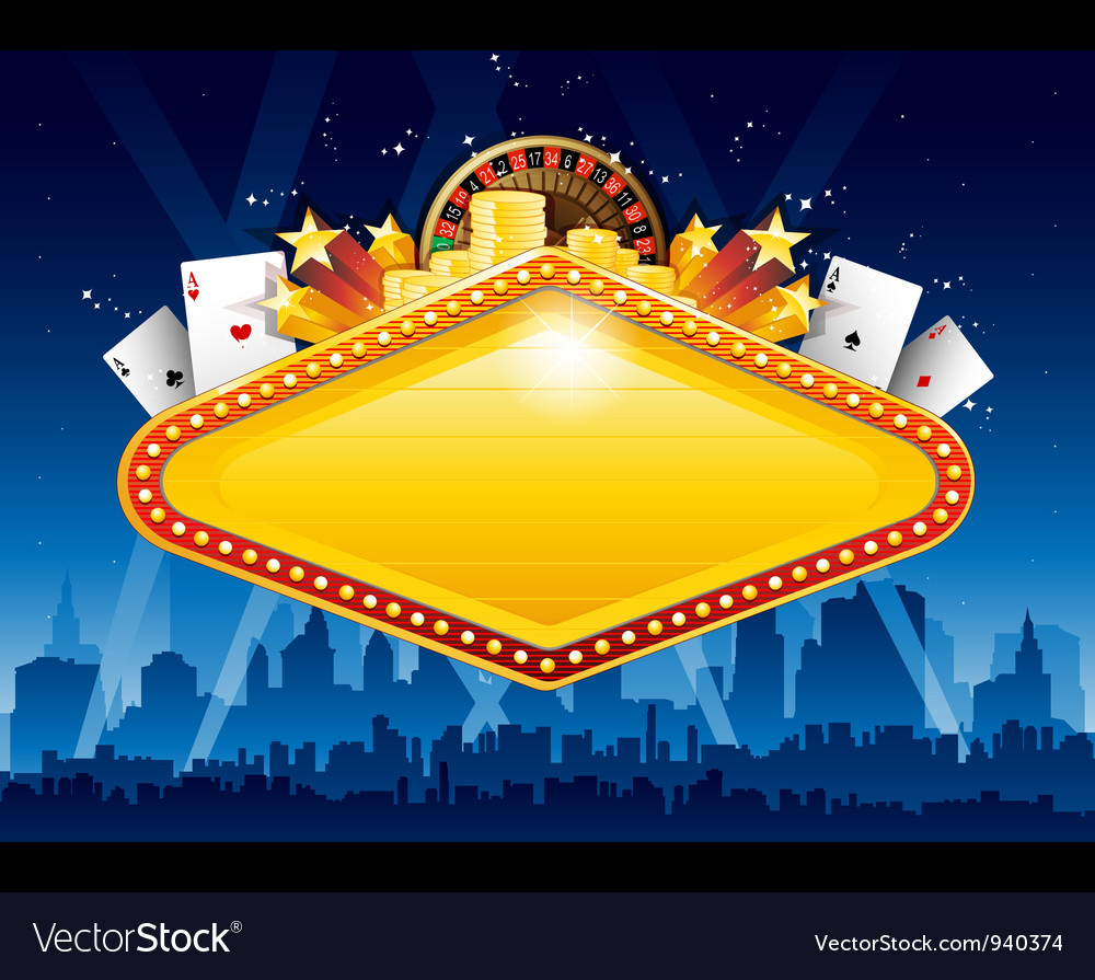 Casino city background vector | Price: 3 Credit (USD $3)