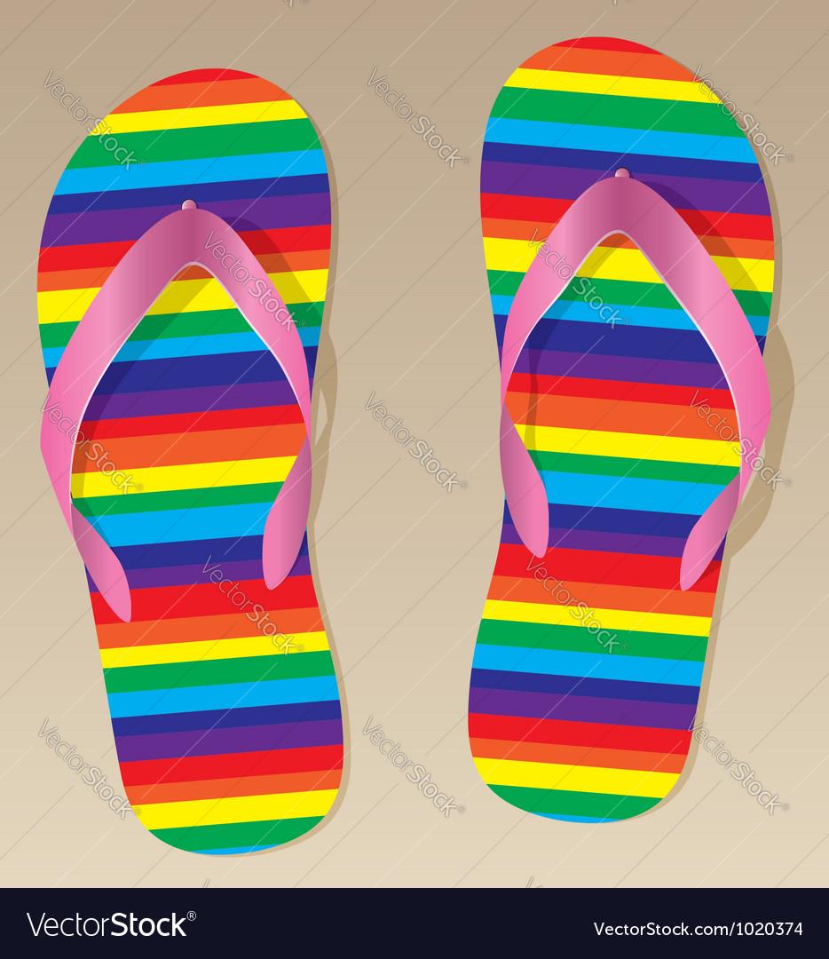 Flip-flops vector | Price: 1 Credit (USD $1)