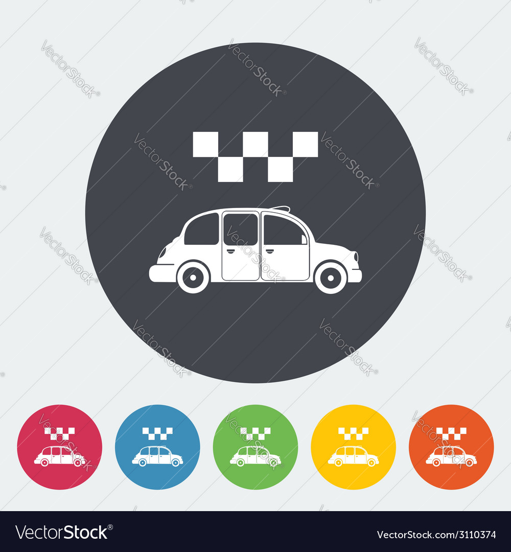 Icon taxi vector | Price: 1 Credit (USD $1)