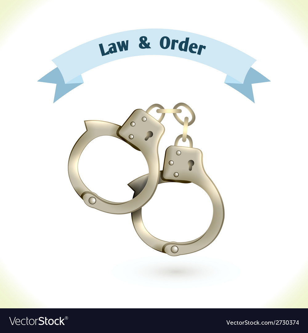 Law icon handcuffs vector | Price: 1 Credit (USD $1)