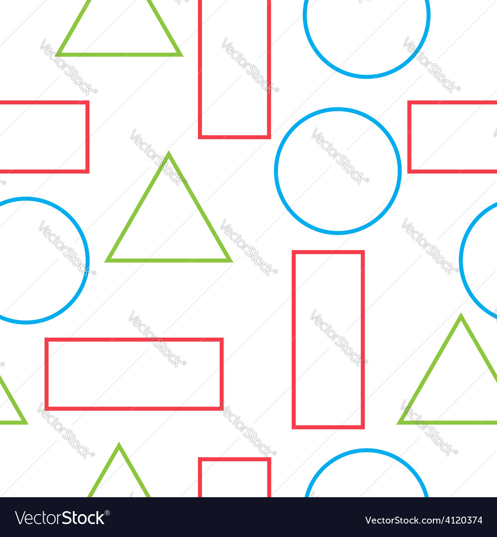Pattern of geometric shapes vector | Price: 1 Credit (USD $1)