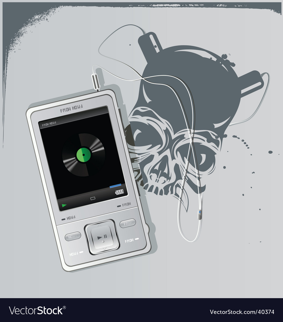 Telephone and skull vector | Price: 3 Credit (USD $3)