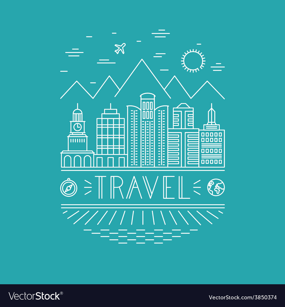 Travel poster design template vector | Price: 1 Credit (USD $1)