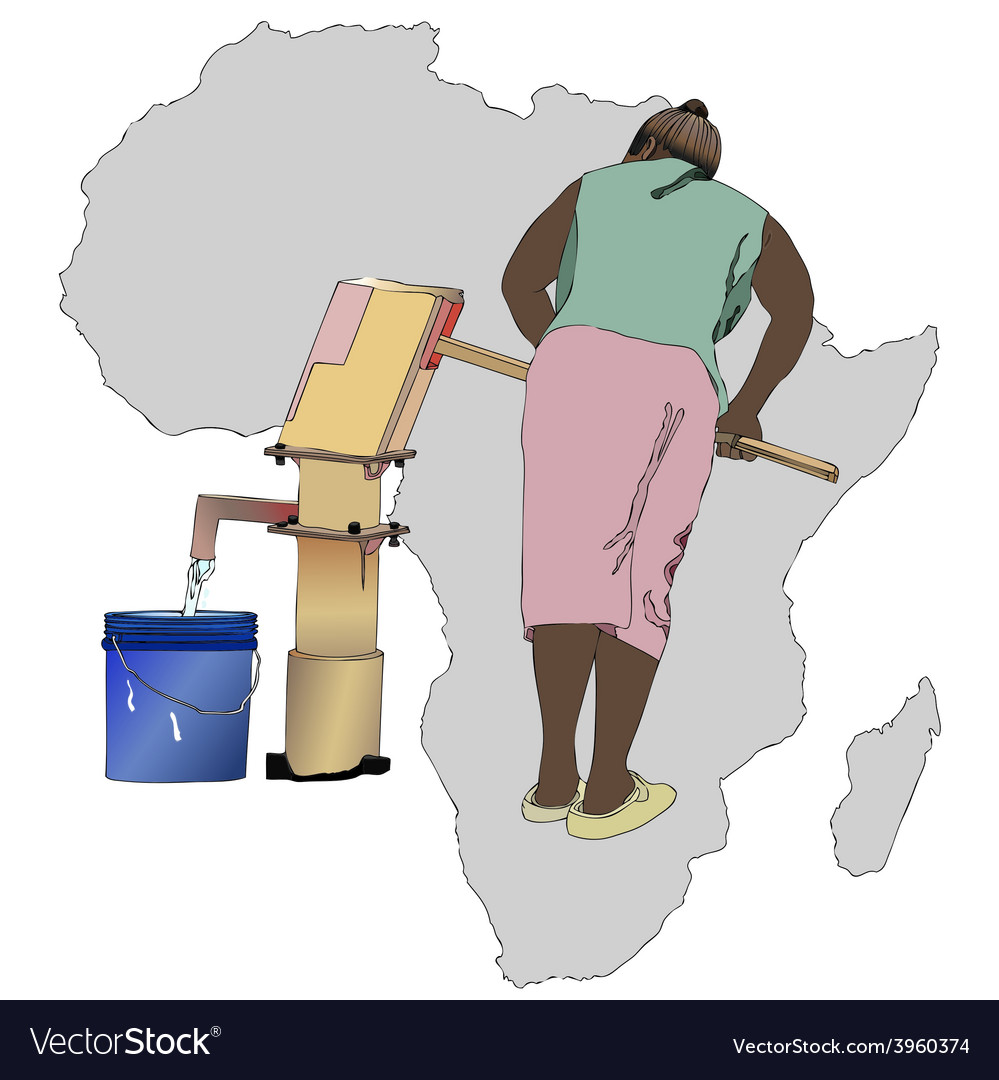 Water essential commodity for africa vector | Price: 1 Credit (USD $1)