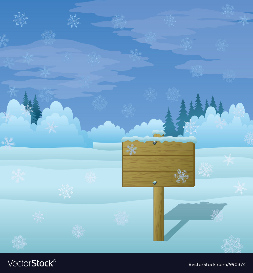Winter landscape sign vector   Price: 1 Credit (USD $1)