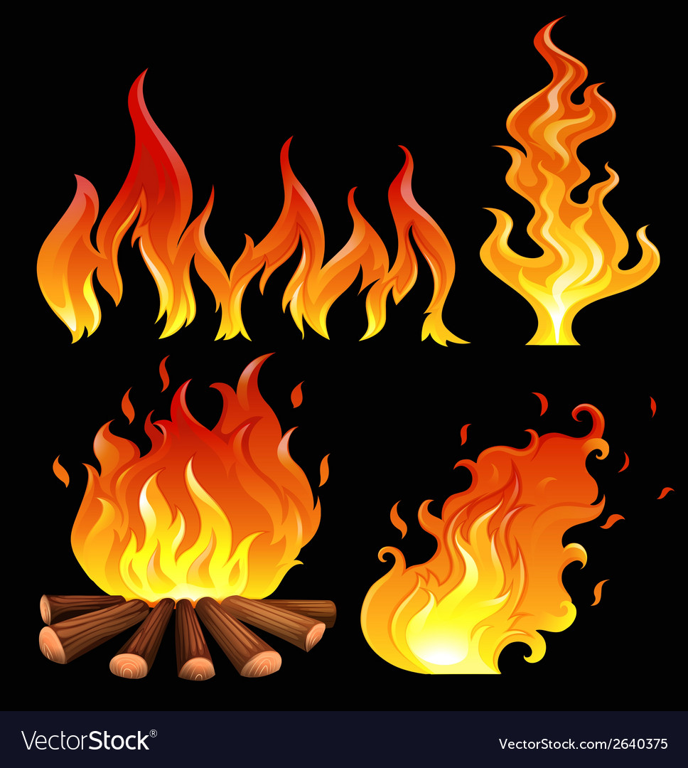A big fire vector | Price: 1 Credit (USD $1)